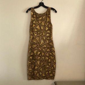 Alice & Olivia bronze sequin dress